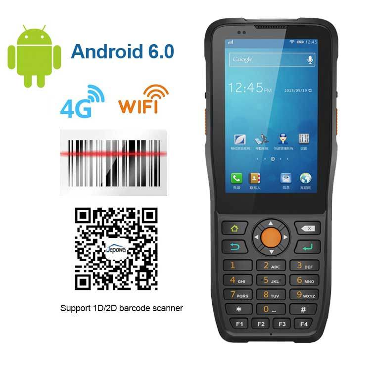 Jepower Ht380k Android PDA Hand Held Terminal Support Barcode Scanner RFID NFC Reader WiFi 4G-Lte