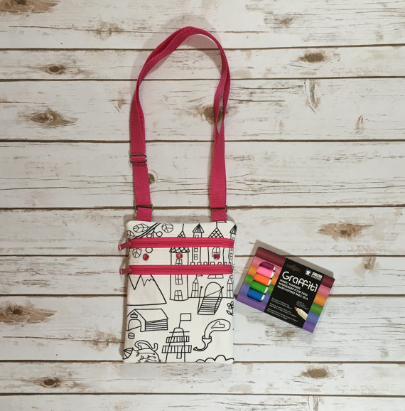 """Colour Me in"" Girls Bag, Small Fashion Bag"
