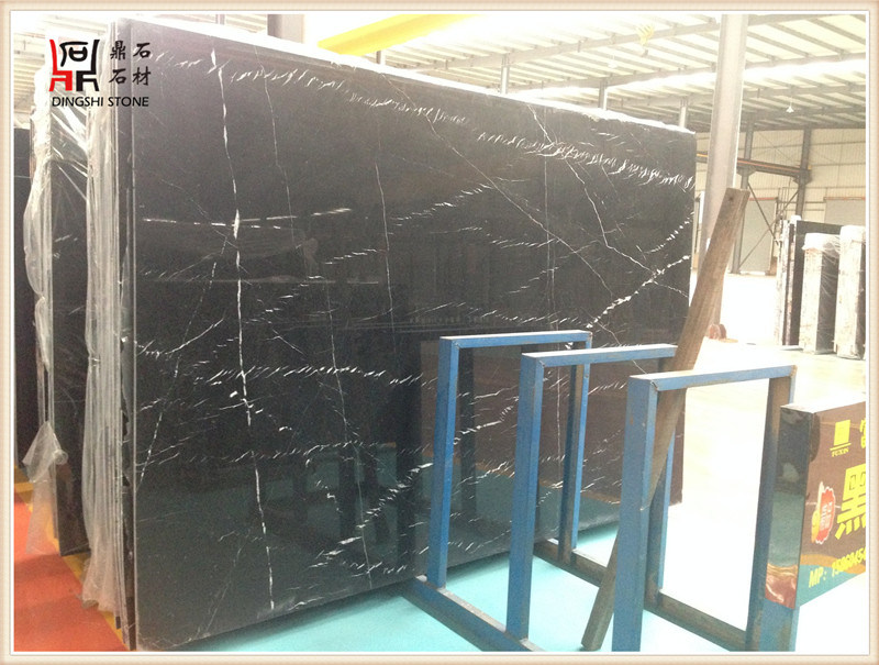 Building Material Black Color High Quality Nero Marquita Marble Slabs