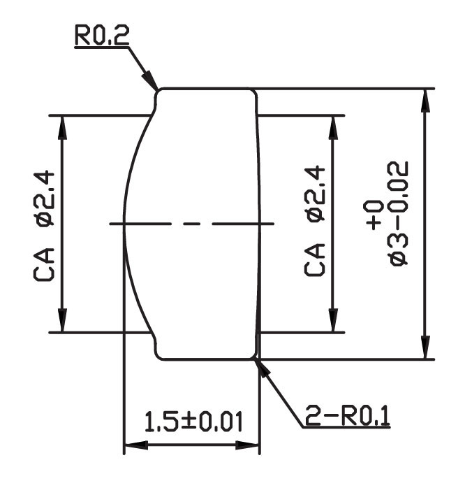 Focus Glass Lens (ASPHERIC DESIGNING) -Ba05