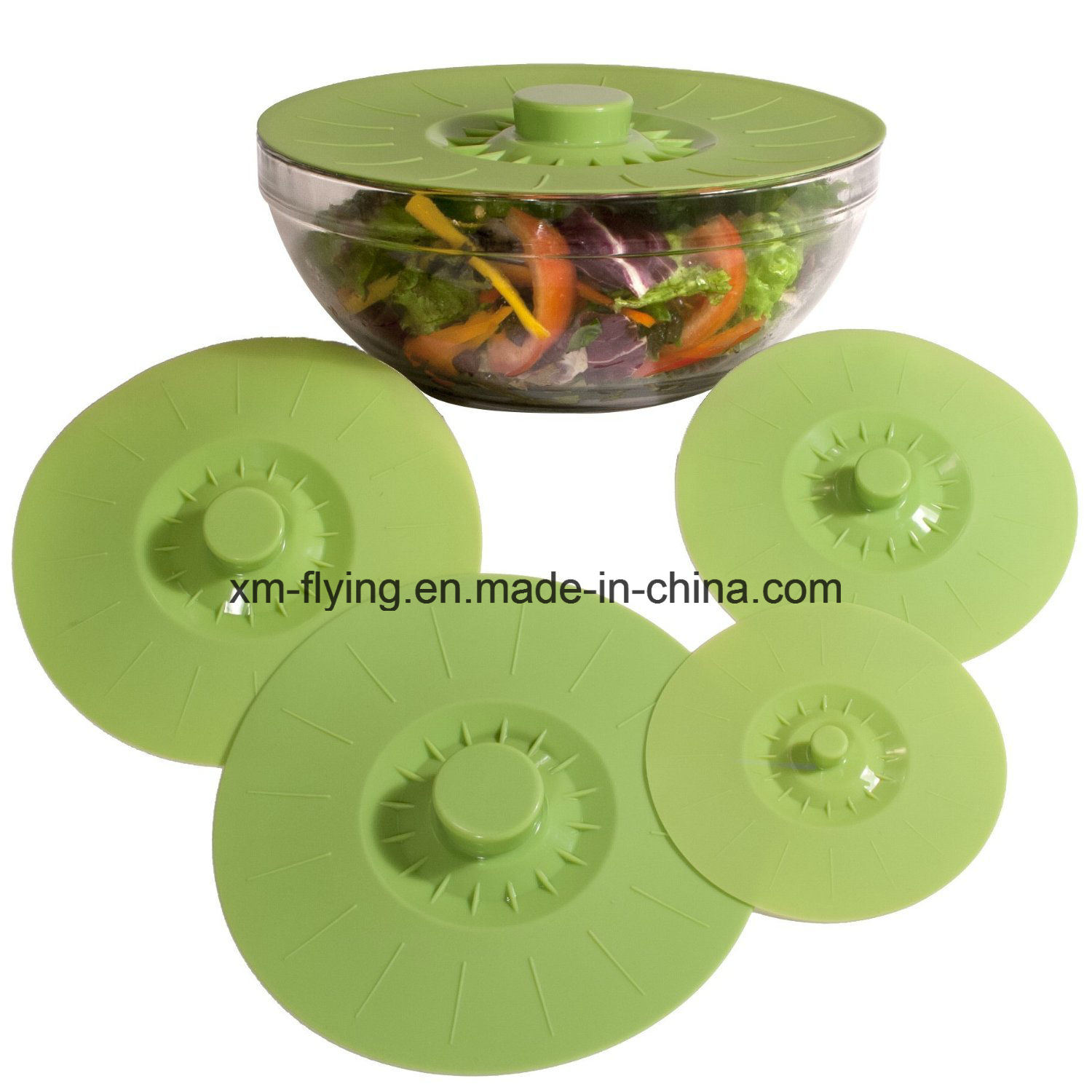 Heat Resistant Silicone Food Covers and Suction Sealing Lids