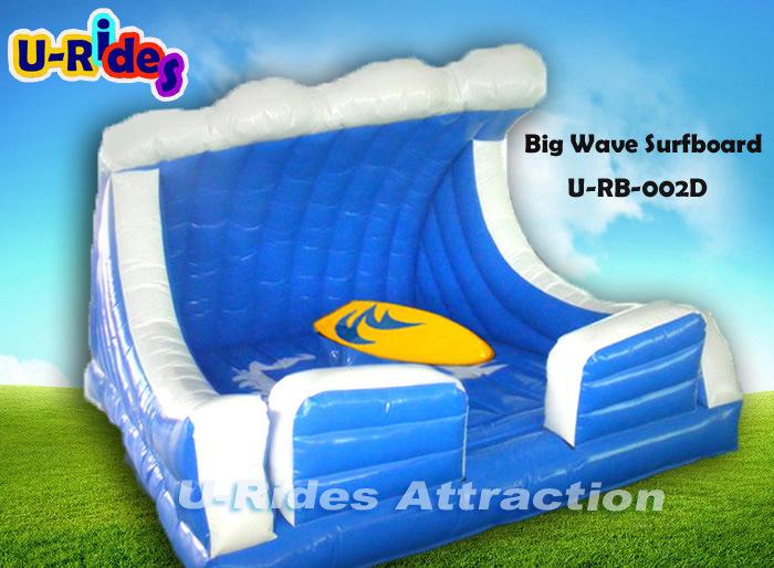Big Inflatable Wave Mechanical Surfboard for Amusement Park