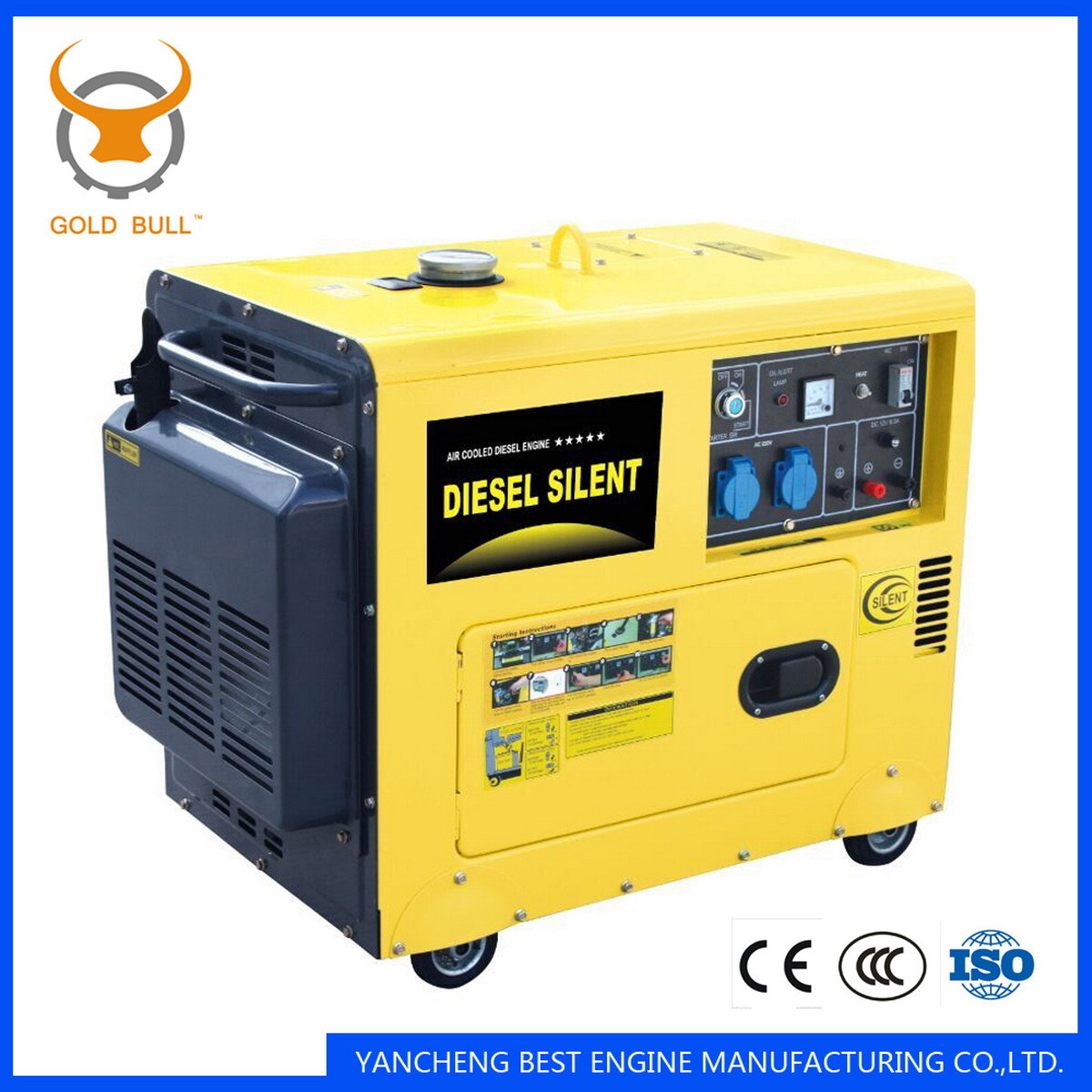 GB3500dgs Air-Cooled Power silent Diesel Generator for Industrial Use