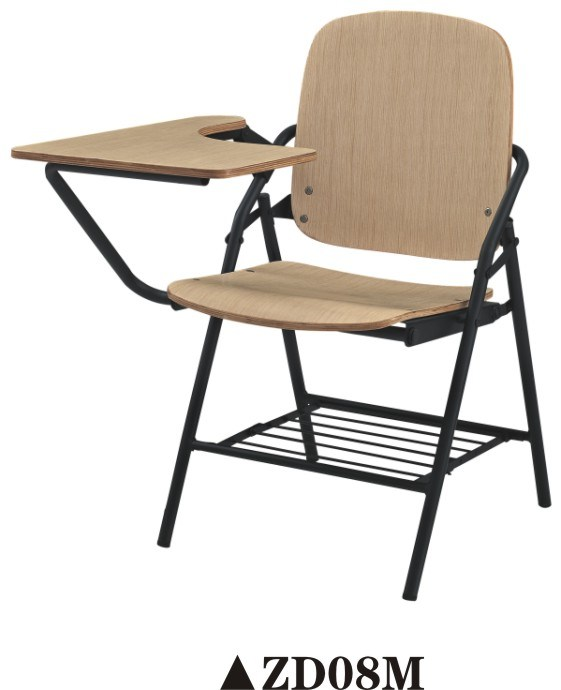 Hot Sale Student Chair Folding Chair Classroom Chair with Writing Table Pad