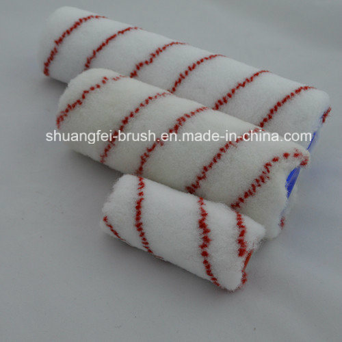 Red and Blue Strips Nylon Paint Roller with Handle
