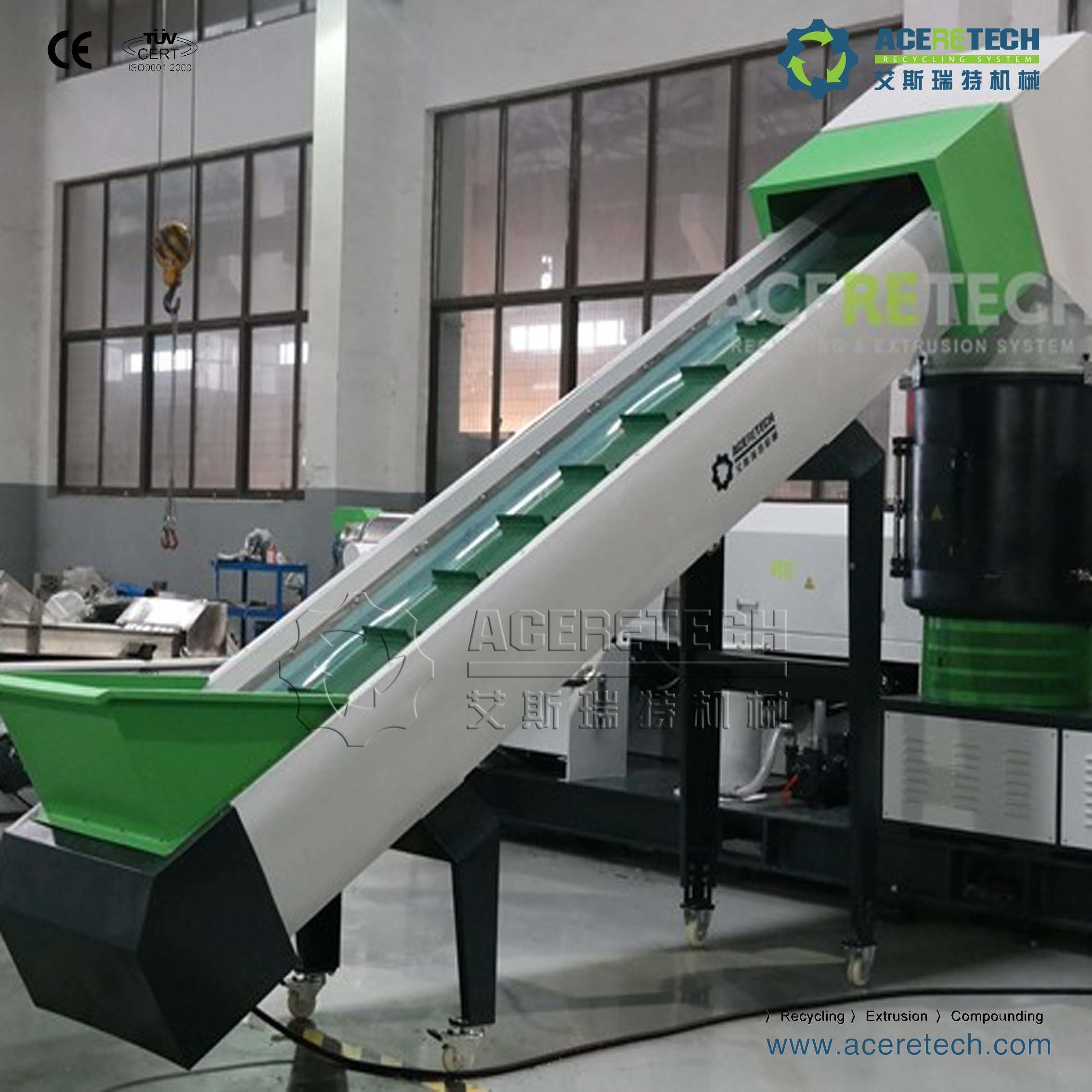 Waste Plastic Recycling Granulating Pelletizing Machine