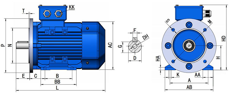 Ye2 Three Phase 22kw Electro-Magnetic Speed-Governing Asynchronous Motor