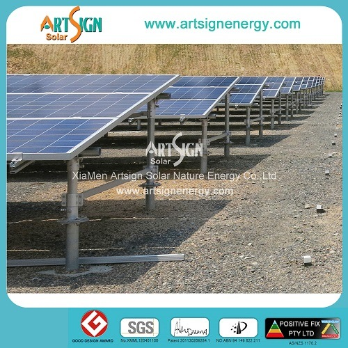 Hot Dipped Galvanized Steel Solar Mounting System for Solar Power Plant Project as-GS01