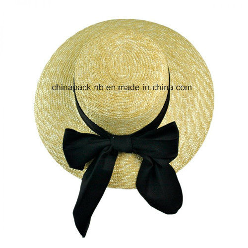 Wheat-Straw Wide Brim Beach Hats (CPA_90011)