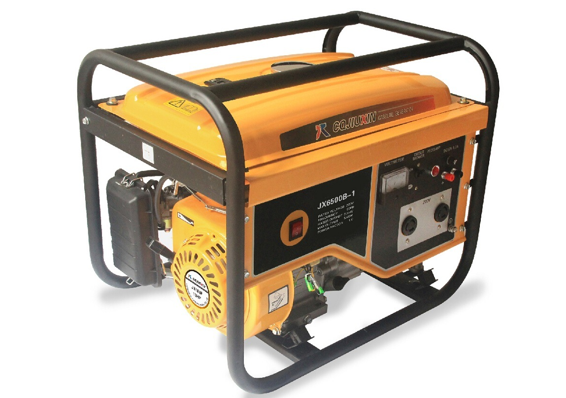 Jx6500b-1 5kw High Quality Gasoline Generator with a. C Single Phase, 220V