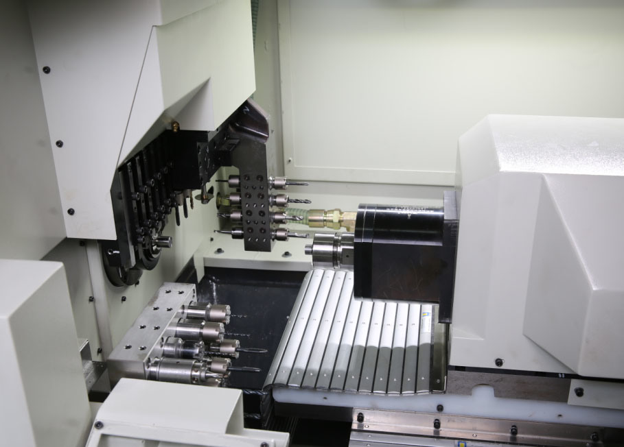 Swiss Type CNC Automatic Lathe Dual Spindles