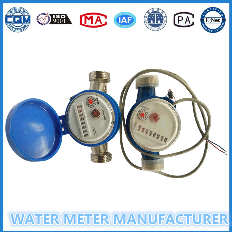 Lxsg-15-25 Single Jet Dry Dial Pulse Water Meter