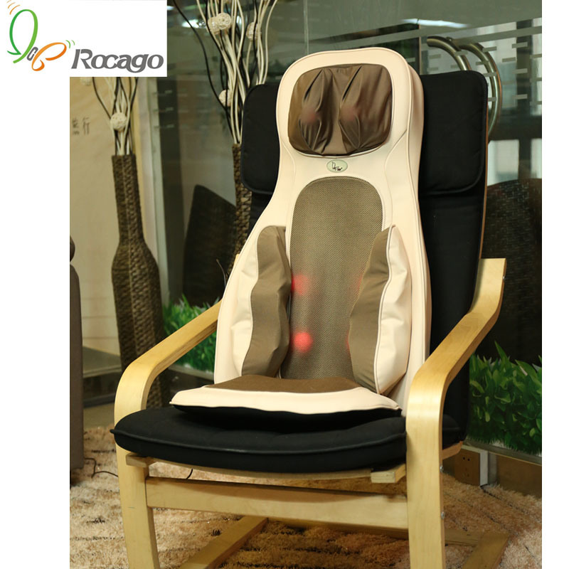 Rocago Neck Back Hip Heating Massage Cushion Body Massager