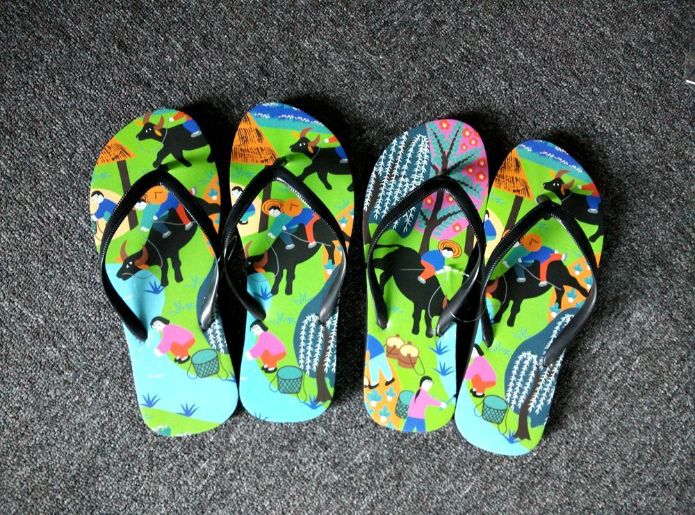 EVA Flip Flop with Logo Printing (PM131)