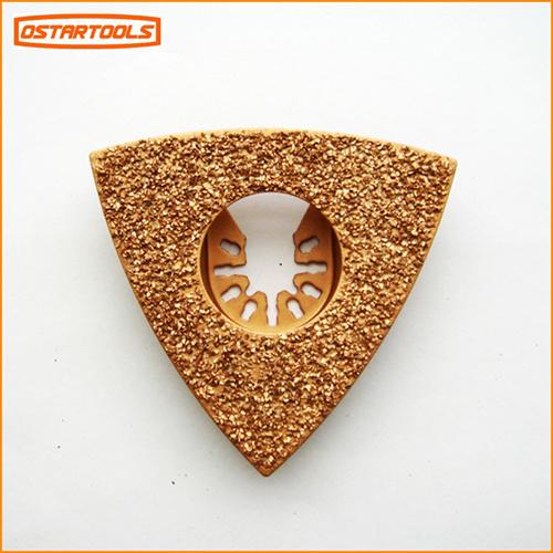 Triangular Carbide Grit Rasp Oscillating Blade Saw with Multi Function