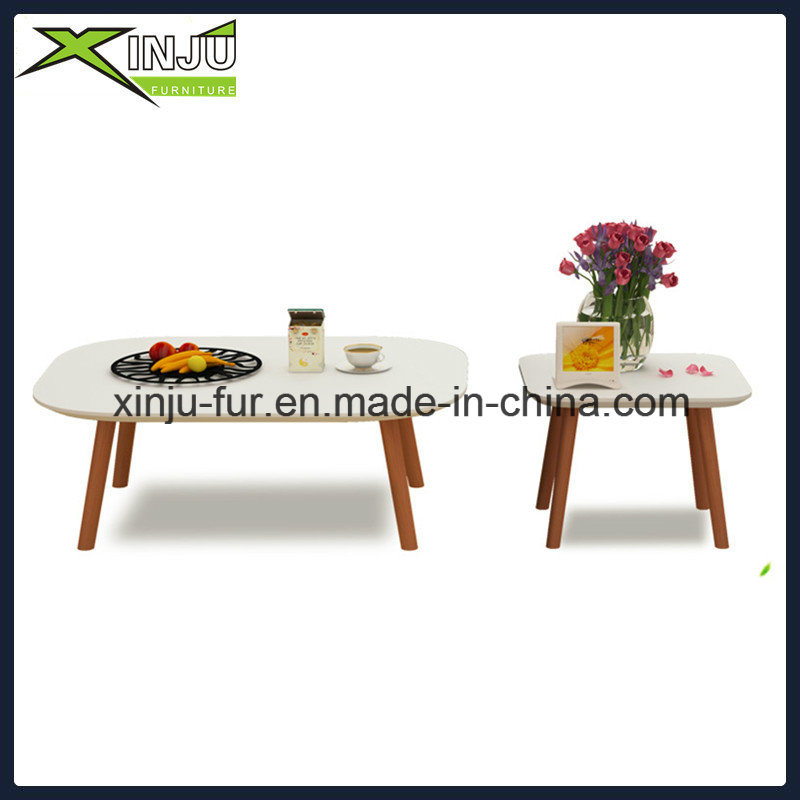 Wooden Coffee and Side Table with Solid Wood