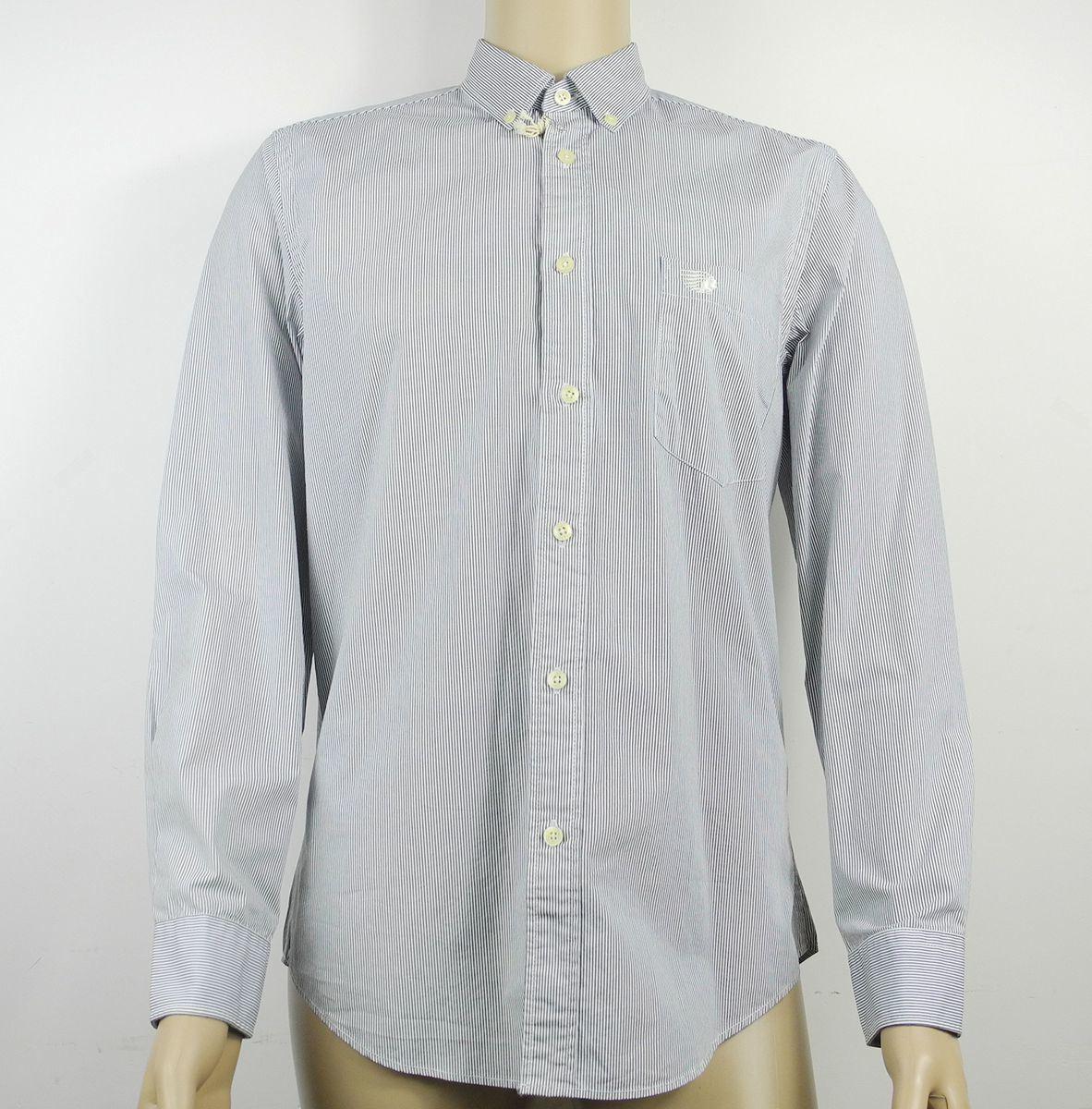 100% Cotton Fashion Design High Collar Men′s Stock Shirt Garment
