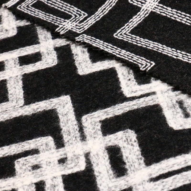 55% Polyester 45%Wool Woolen Fabric for Garment