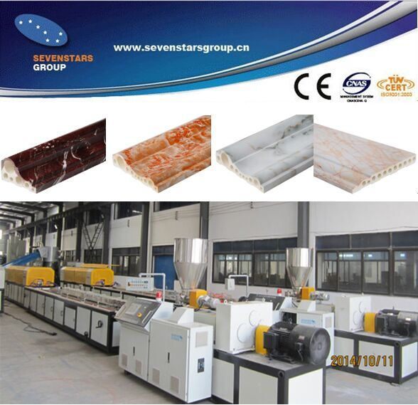 PVC Artificial Marble Profile and Sheet Production Line / Making Machine