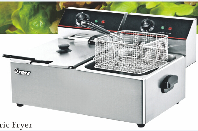 CE Approved Hot Sales Electric Twin-Tank Deep Fryer