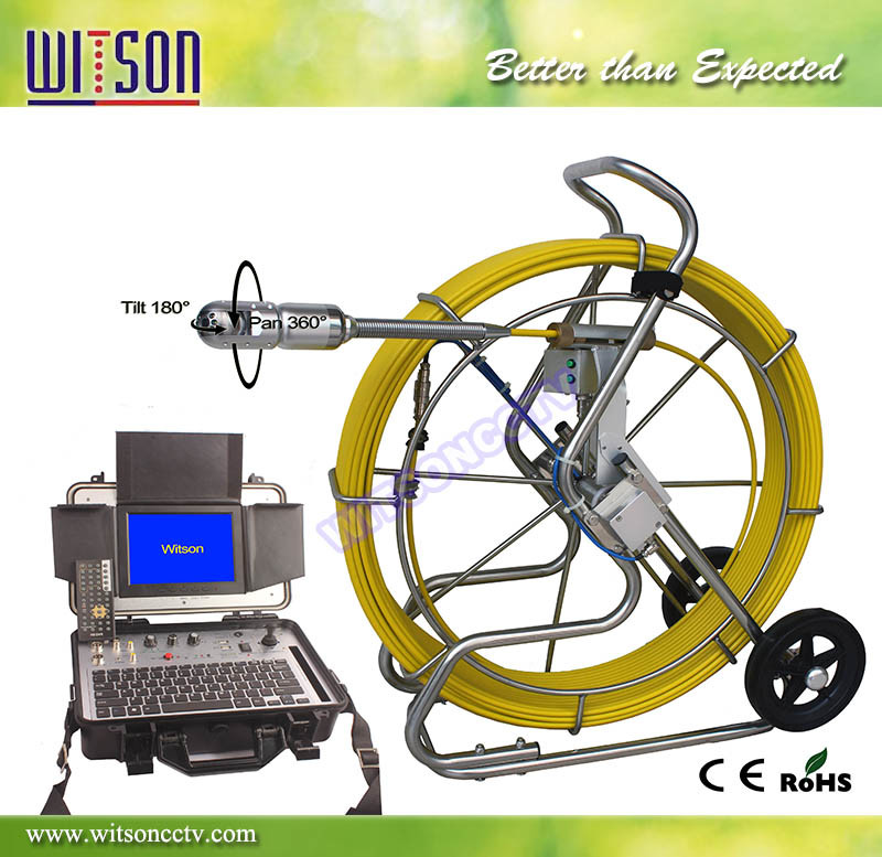 Witson Pan 180 Degree/Tilt 360 Degree Pipe Inspection Camera