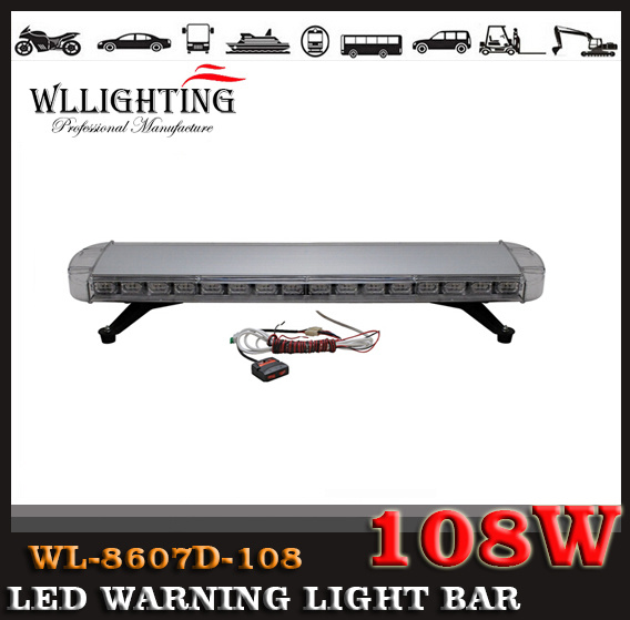 108W Emergency Warning LED Lightbars for Security Vehicle