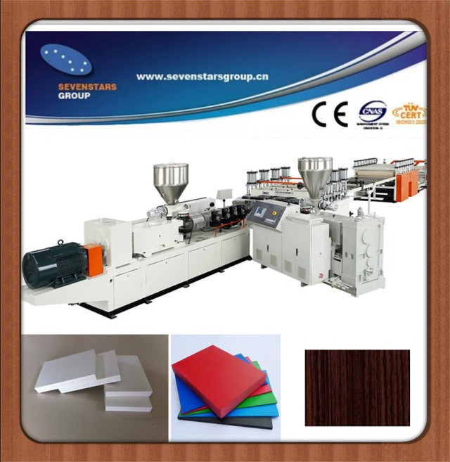 WPC PVC Foam Board Making Machine with Ten Years Factory