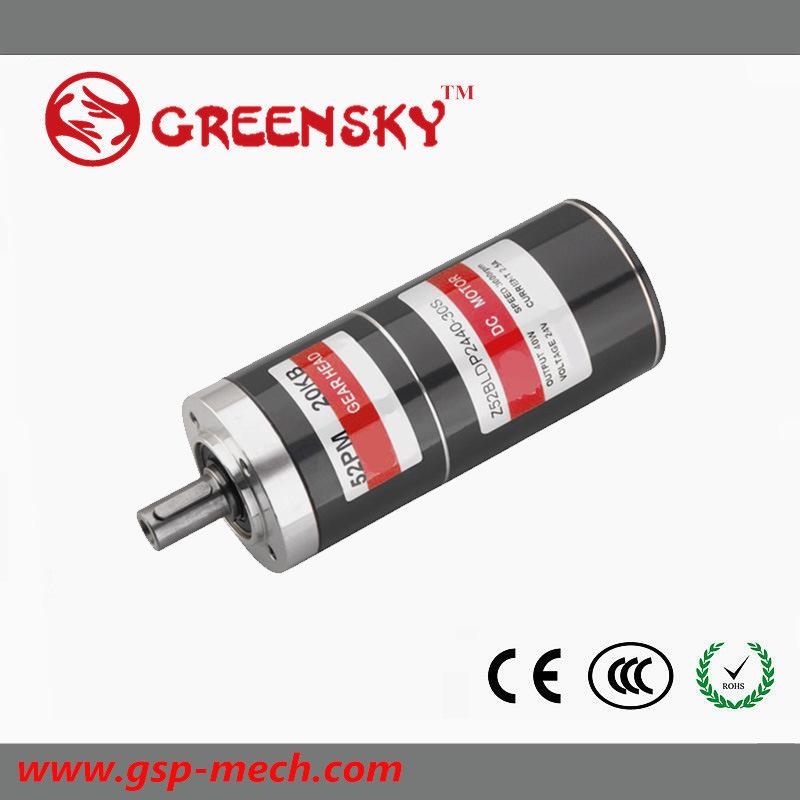 GS 40/50W 52mm Planetary DC Brushless Motor