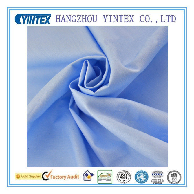 Antibacterial Light Blue 100% Cotton Twill Fabric for Baby′s Bedding