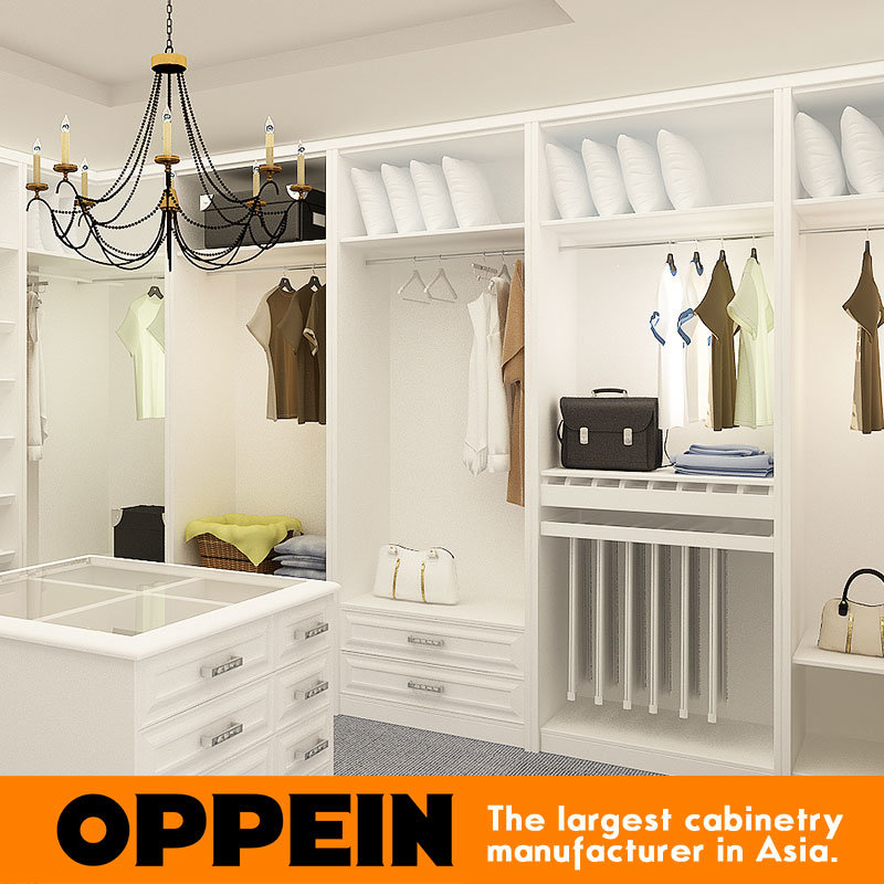 2016 European Classical Matte Lacquer Wooden Walk-in Closet Wardrobe (YG16-L05)