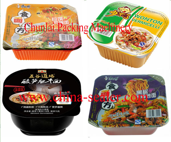 Automatic Instant Noodle Bowl Sealing Machine