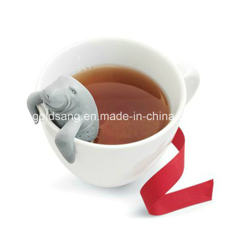 Factory Outlets Eco-Friendly Sea Lion Shape Silicone Tea Infuser