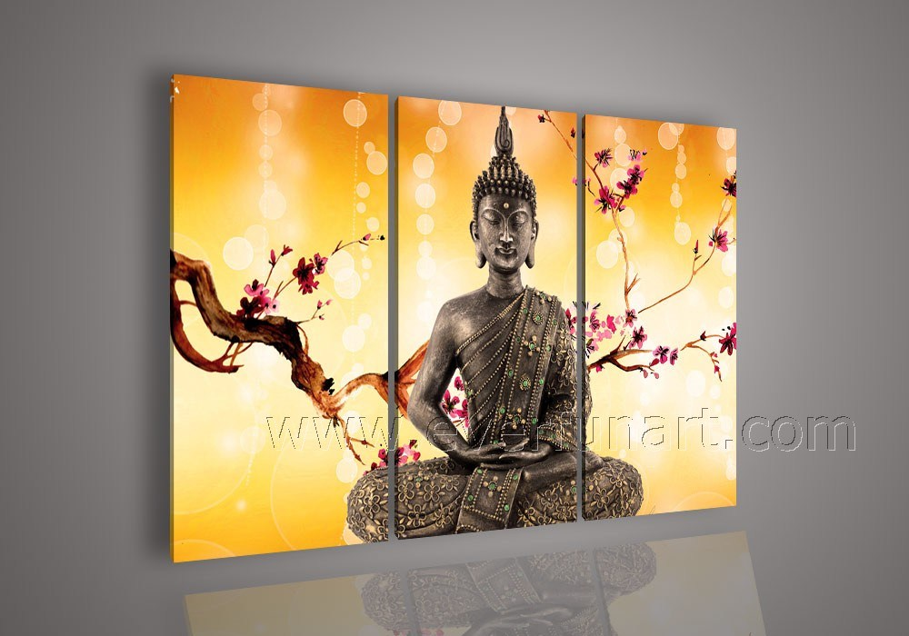 china modern art buddha painting oil art on canvas for home