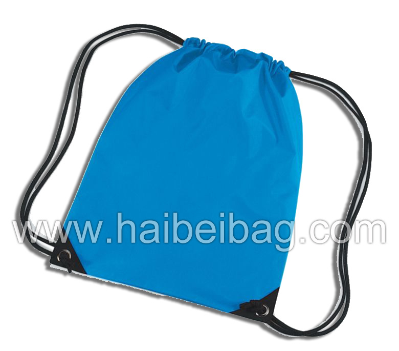 Reusable Promotional Nylon Gym Bag, Drawstring Backpack Shopping Bag, Fitness Sling Bag, Sports Rucksack Gymsack, Gymbag Gym Sack