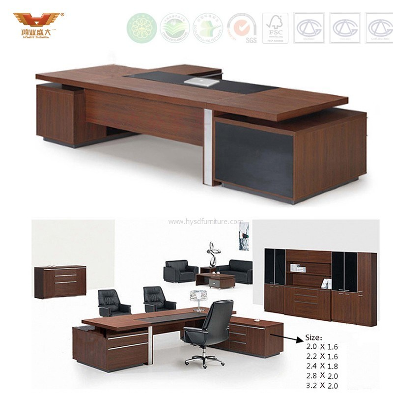 Modern Design Executive L Shape Office Work Table Office Furniture (HY-896)