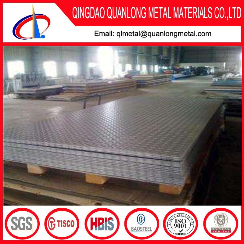 S235jr Hot Rolled Carbon Checkered Steel Plate