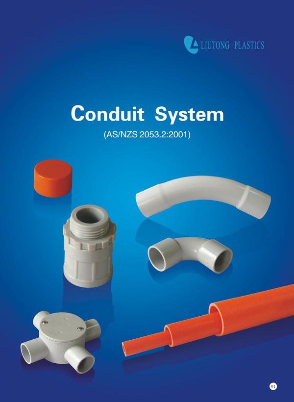 Australia Standard (AS/NZS2053) UPVC / PVC Plastic Pipe / Conduit & Fittings