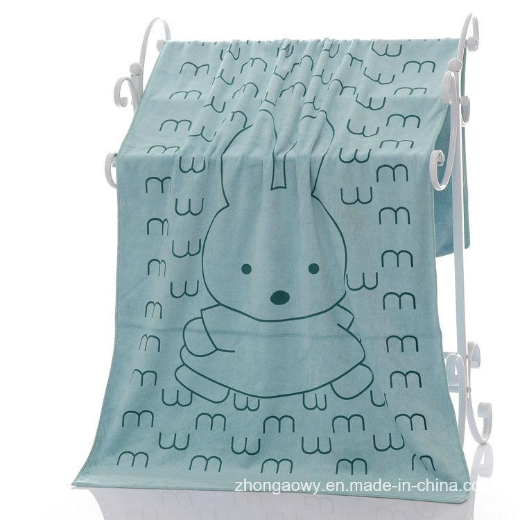Quickly Dry Printed Microfiber Bath Towel