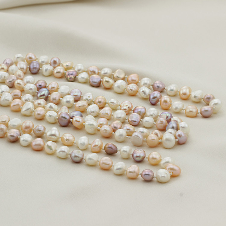 Snh Natural Long Colorful Necklace Jewelry Wholesale