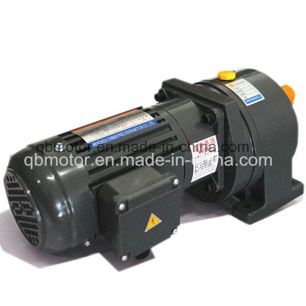 0.4kw Shaft 28mm Horizontal Geared Reducer Small AC Gear Motor