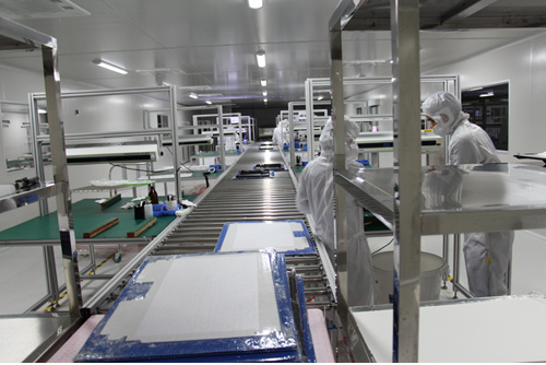 LED TV Assembly Line in Cleanroom