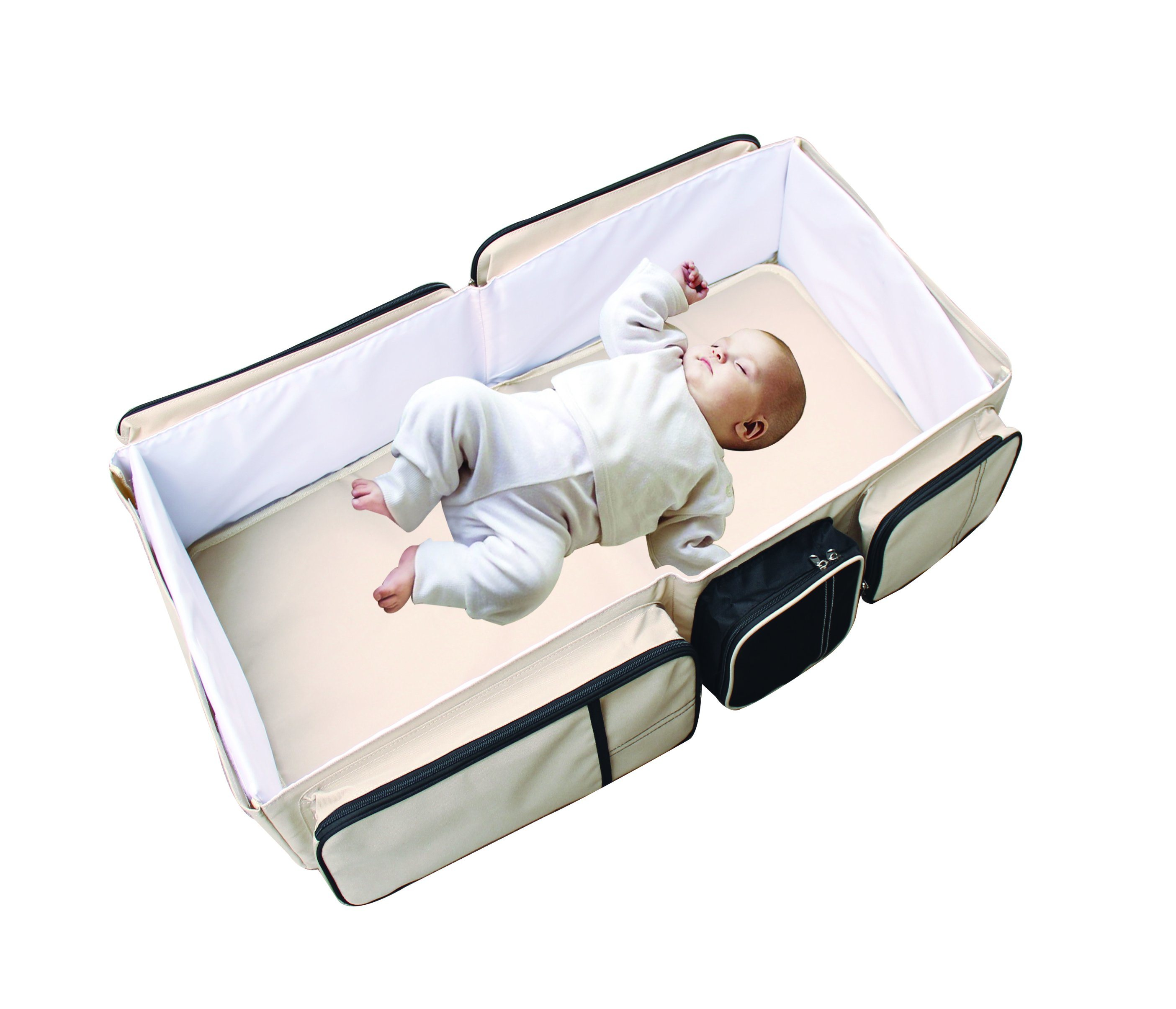 2 In1 Portable Crib Baby Bag, Collapsible Variable Package, Multifunctional Baby Travel Bag&Bed Folding Bed Anti-Mosquito Insulation Game Handle Shoulder 160101