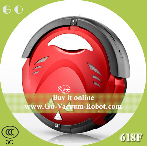 Household Cordless Robot Vacuum Cleaner Wet and Dry, Red, Low Noise, Auoto Charge, Anti-Collision Cleaning Aspirator for Home