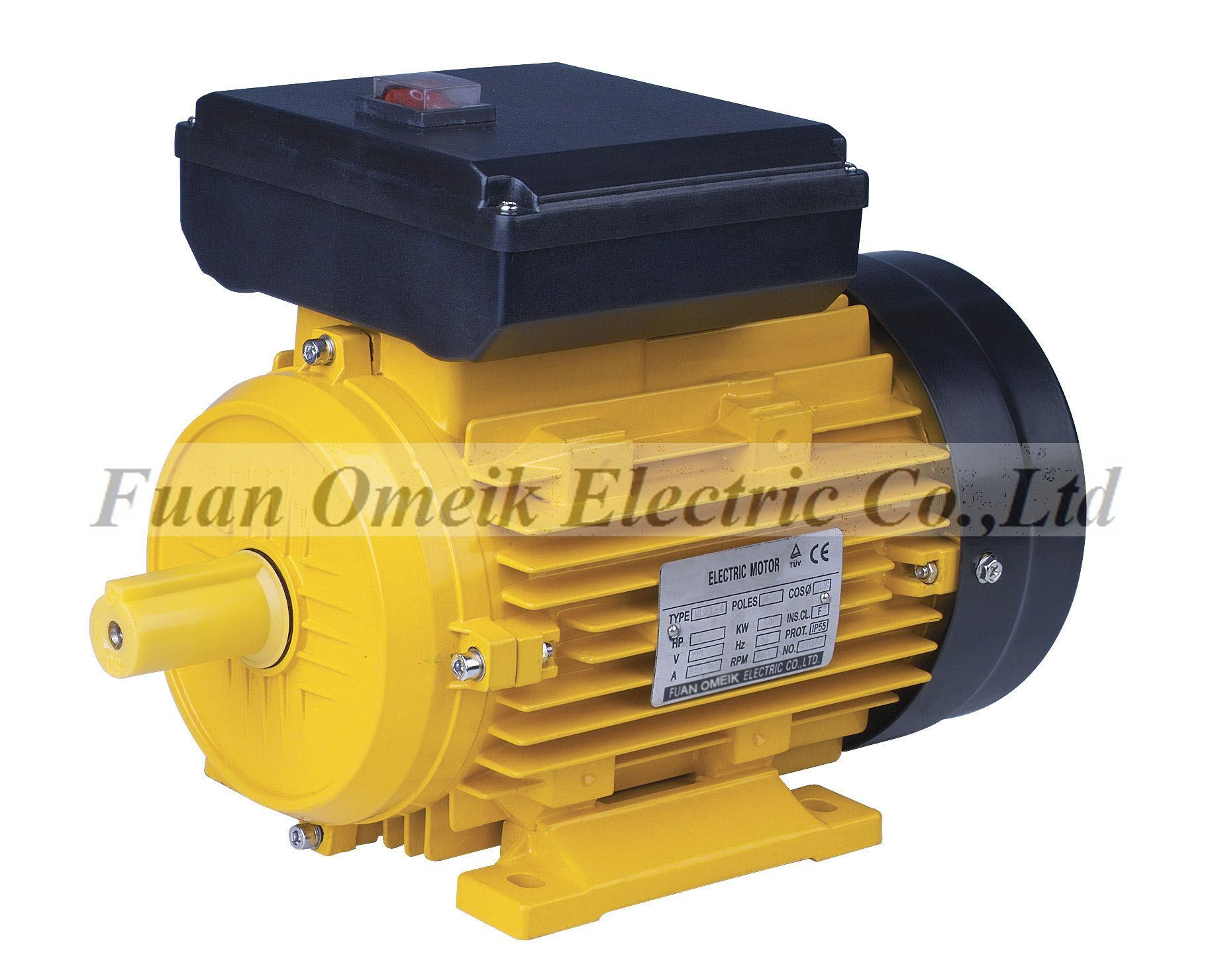 My single phase electric motor china 100 copper motor for Two phase electric motor