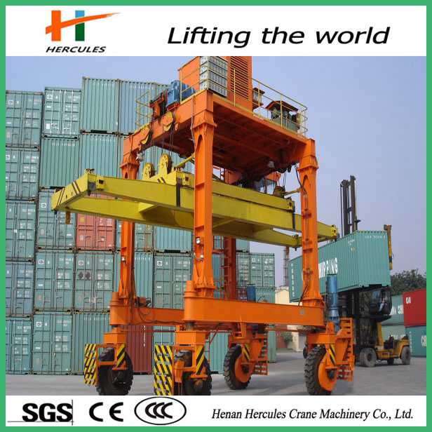 2015 Mobile Rubber Tyre Container Port Crane