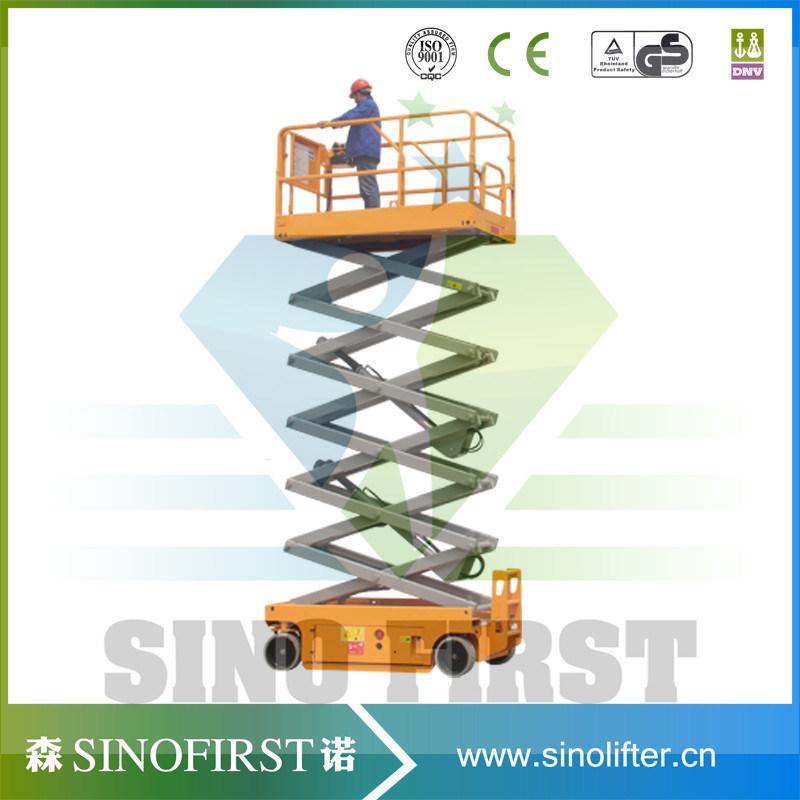 High Quliaty 6m to 12m Self Driven Scissor Lift Platform Working Platform