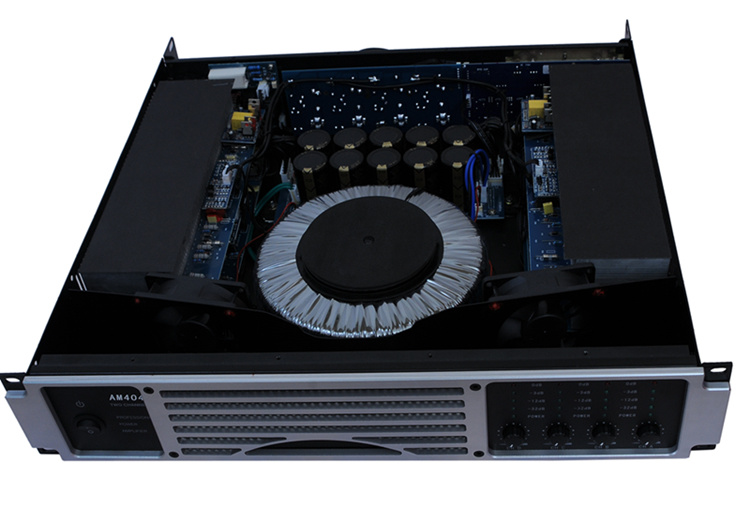 Am Series, 4 Channels, 2u Power Amplifier-Grey Board (Grey and Silver Board is Available)