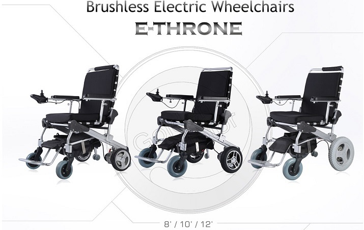 Hot Sale! E-Throne! Light Weight Electric Folding Mobility/Aids Scooter/ Motorised Wheelchair/Eletric Wheelchair/Power Wheelchair with LiFePO4 Battery
