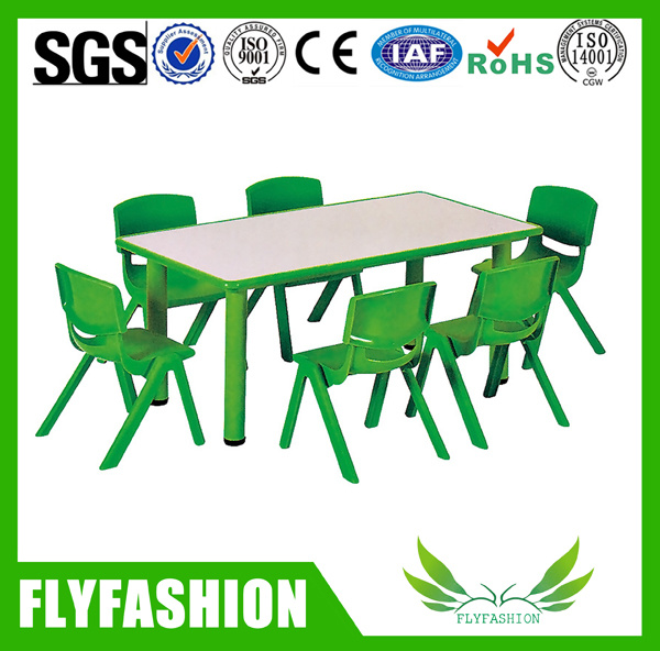 Wooden Kindergarden Furniture Children Study Dining Table and Chair for Sale Sf-09c