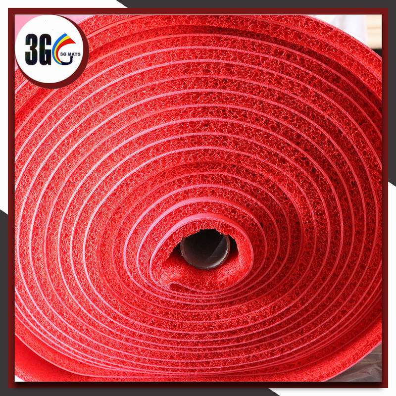 3G Brand 12mm Thickness PVC Unfoam Backing Coil Mat